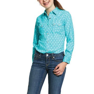 Ariat Girl's Turquoise Snap Shirt