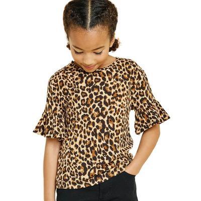 Hayden Girl's Leopard Print Top