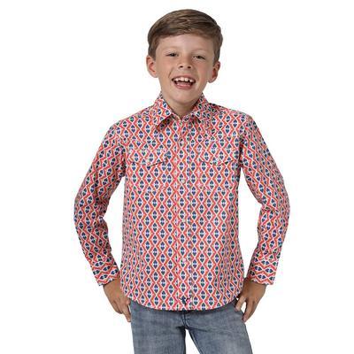 Wrangler Boy's Coral Snap Up