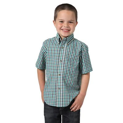 Wrangler Boy's Blue Button Down