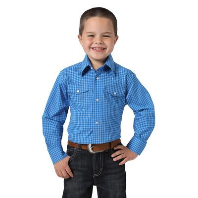 Wrangler Boy's Royal Blue Snap Up