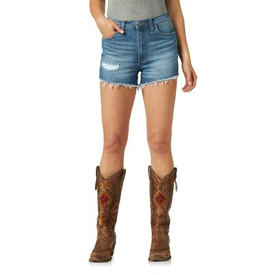 Wrangler Womens High Rise Retro Cut-off Short