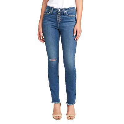 Silver Womens High Note High Rise Slim Leg Jean