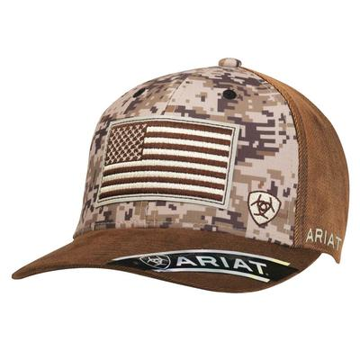 Ariat Mens USA Flag Camo Cap