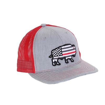 Red Dirt Hat Co.'s Thin Red Line Buffalo Cap