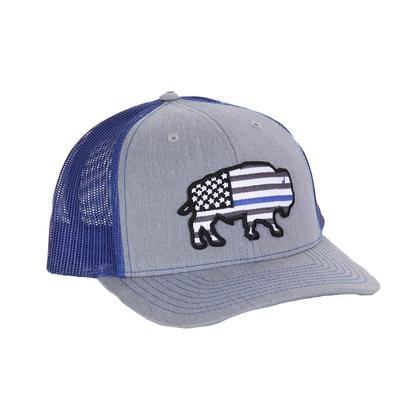 Red Dirt Hat Co.'s Thin Blue Line Buffalo Cap