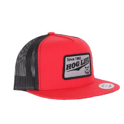 Outdoor Crew Hog Life Red Patch Cap