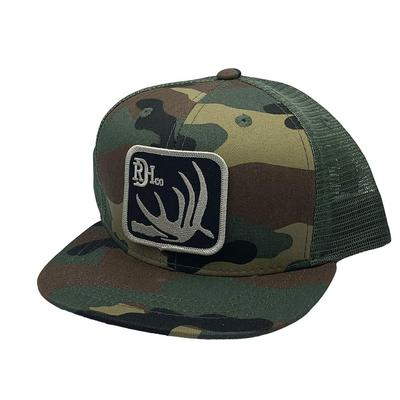 Red Dirt Hat Co.'s Youth Green/Camo Deer Shed Cap
