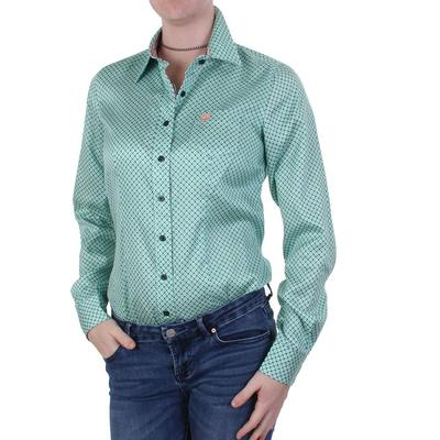 Cinch Ladies Tencel Button Teal Shirt