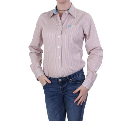 Cinch Ladies Pink Striped Fitted Shirt