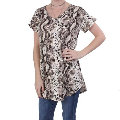 Ladies Snake Print Top