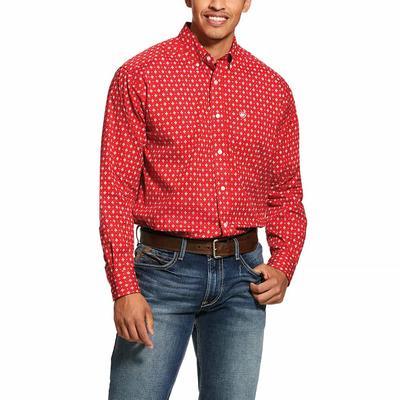 Ariat Mens Nelton Print Stretch Classic Fit Shirt