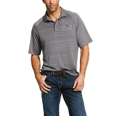 Ariat Men's Grey Edge Tek Polo