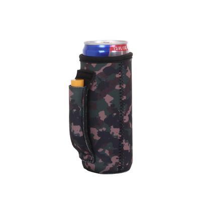 Camo Slim Pocket Handle Can Cooler
