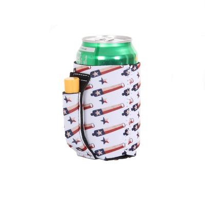 Come And Take It Regular Pocket Handle Can Cooler