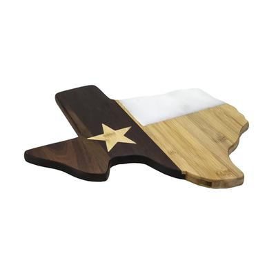 Texas Wood And Marble Cutting Board