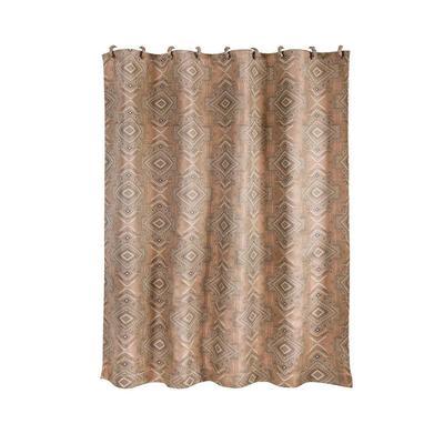 Sedona Jacquard Shower Curtain in Pale Sienna