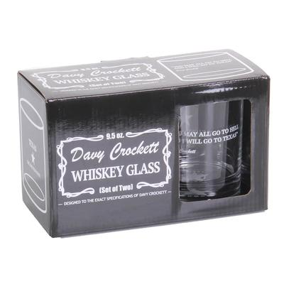 Davy Crockett Whiskey Glass Set