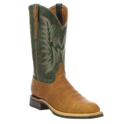 Lucchese Men's Cognac Green Rudy Boots