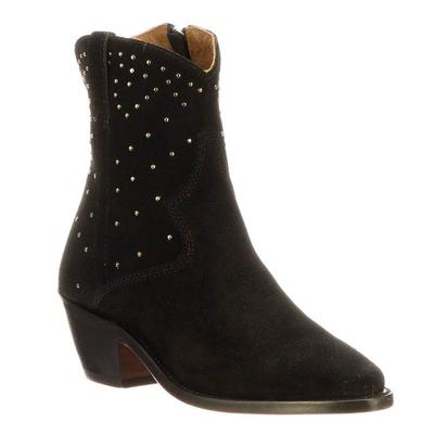 Lucchese Women's Black Avie Stud Ankle Boots