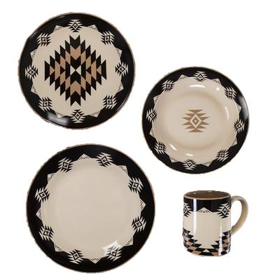 16- PC Chalet Aztec Southwestern Dinner Set