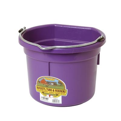 Miller MFG. 8 Quart Flat Back Purple Plastic Bucket