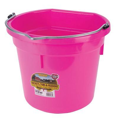 Miller MFG. 20 Quart Flat Back Hot Pink Bucket