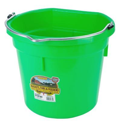 Miller MFG. 20 Quart Flat Back Lime Green Bucket