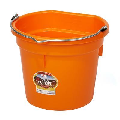 Miller MFG. 20 Quart Flat Back Orange Bucket