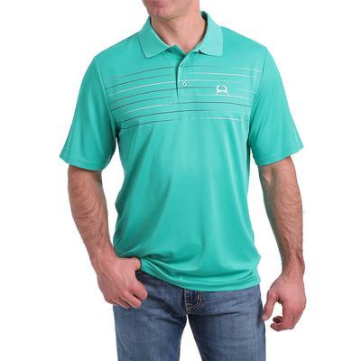 Cinch Men's Green Stripe Polo