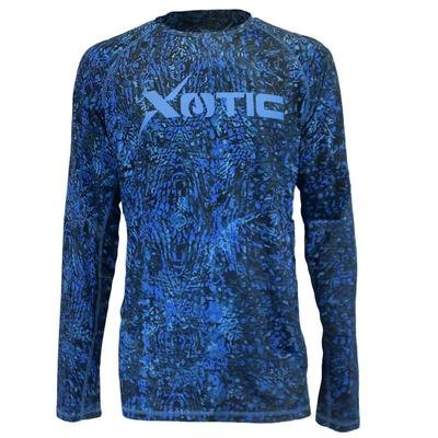 Xotic Men's Blue Long Sleeve Performance Shirt