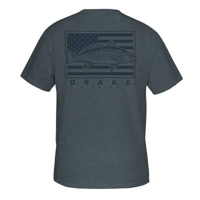 Drake Waterfowl Patriotic Fish Tee
