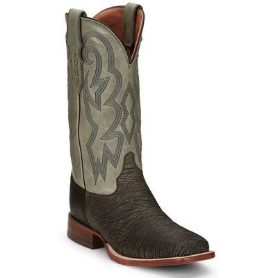 Justin Mens Mingus Grey Western Boot