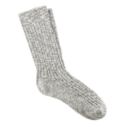 Birkenstock Women's Grey Slub Socks