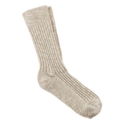 Birkenstock Women's Beige Slub Socks