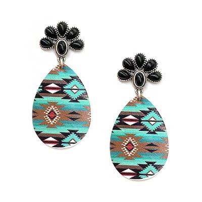 Aztec Teardrop Squash Blossom Earring