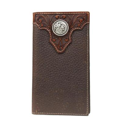 Ariat Rodeo Tooled Overlay Bi-fold Wallet