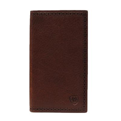 Ariat Men's Bi-fold Solid Leather Wallet