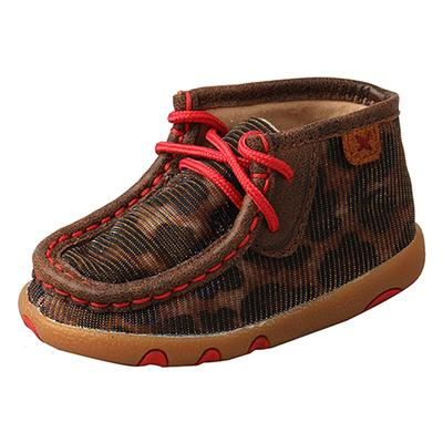 Twisted X Infant's Leopard and Red Lace-Up Shoes