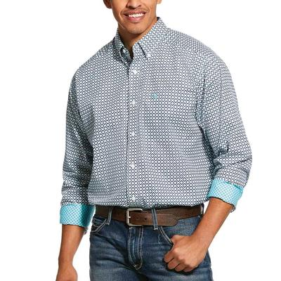 Ariat Men's Wrinkle Free Porterville Print Classic Fit Shirt
