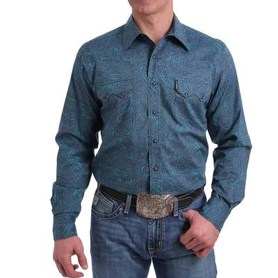 Cinch Men's Paisley Print Snap Western Shirt