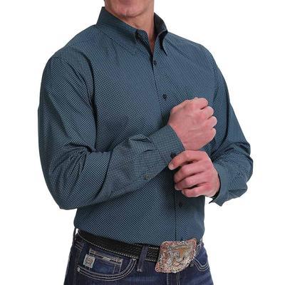 Cinch Men's Miro- Geometric Print Navy Button Down Shirt