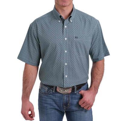 Cinch Men's Arenaflex Navy Print Shirt