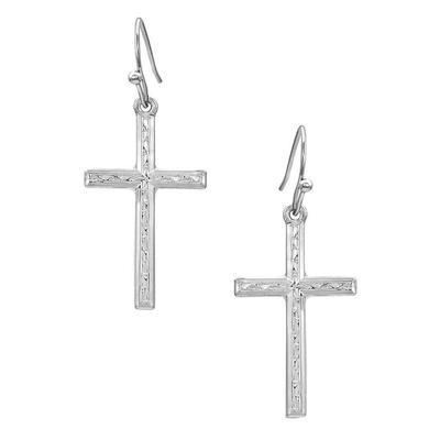 Montana Silversmiths Gratitude Cross Earrings