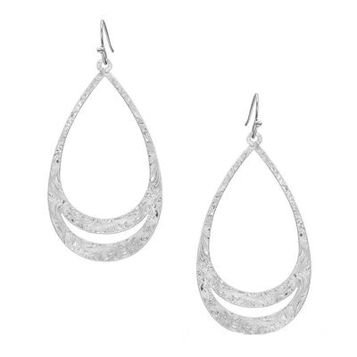 Montana Silversmiths Think Twice Teardrop Earrings