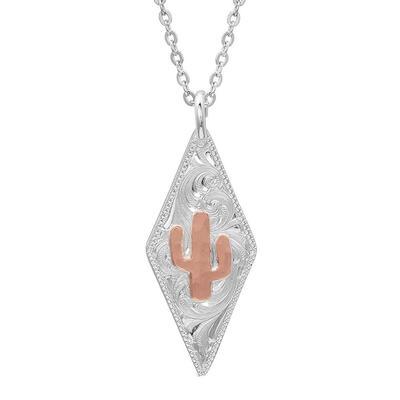 Montana Silversmiths Two Tone Diamond Cactus Necklace