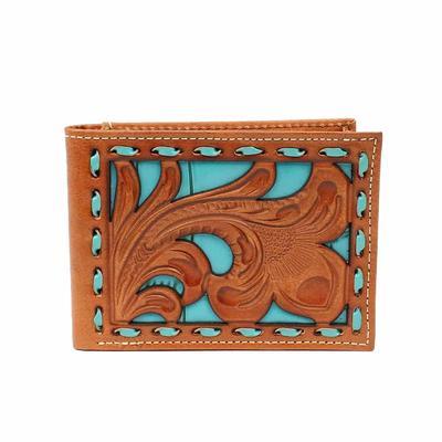 Nocona Floral Turquoise Bi-fold Wallet