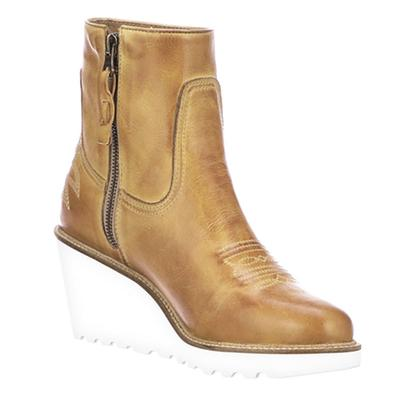 Lucchese Women's Tan Music City Wedge Ankle Boots