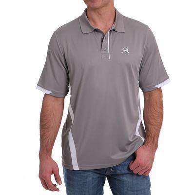 Cinch Men's Arenaflex Grey Color- Block Polo