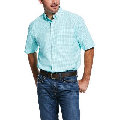 Ariat Men's Pro Series Trellis Aqua Rexbury Classic Fit Shirt